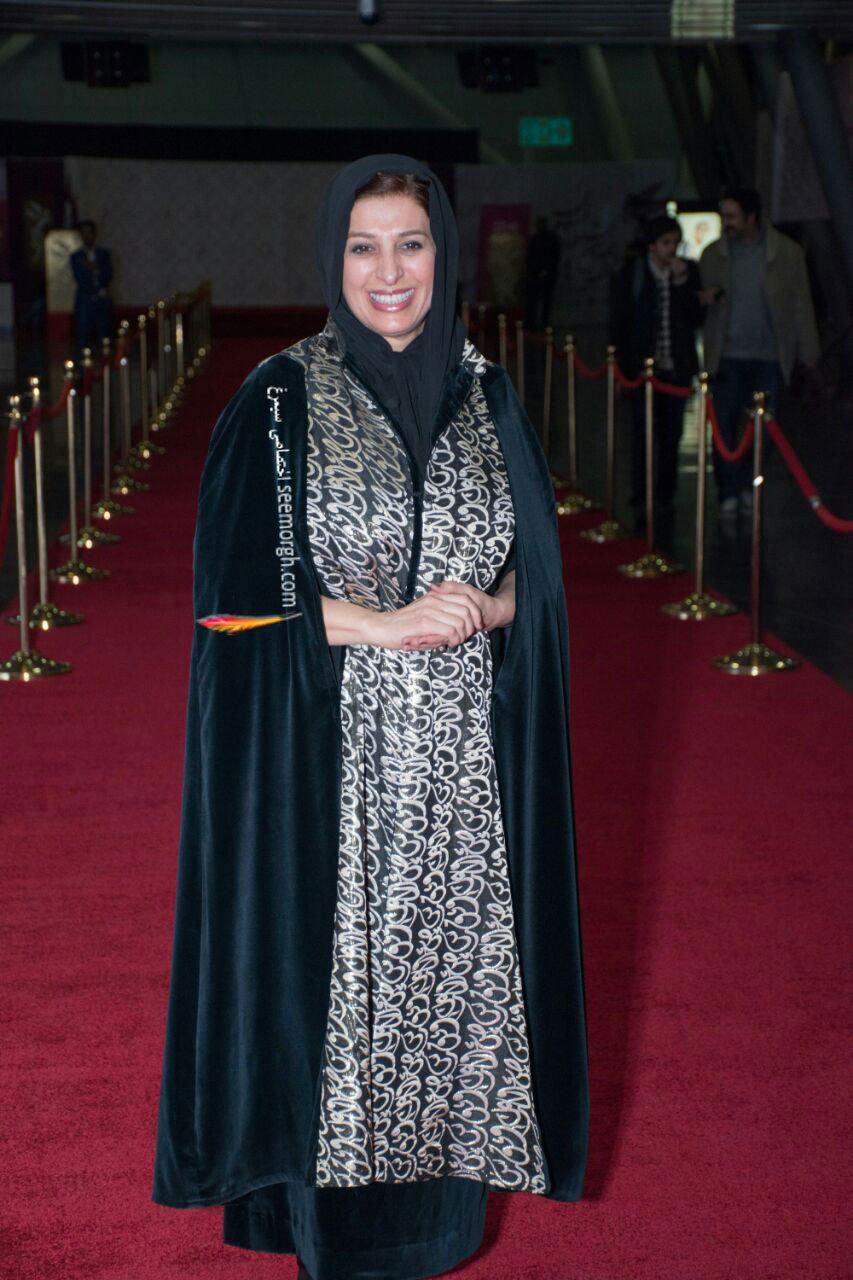 مدل لباس مائده طهماسبی در اولین روز سی و چهارمین جشنواره فیلم فجر