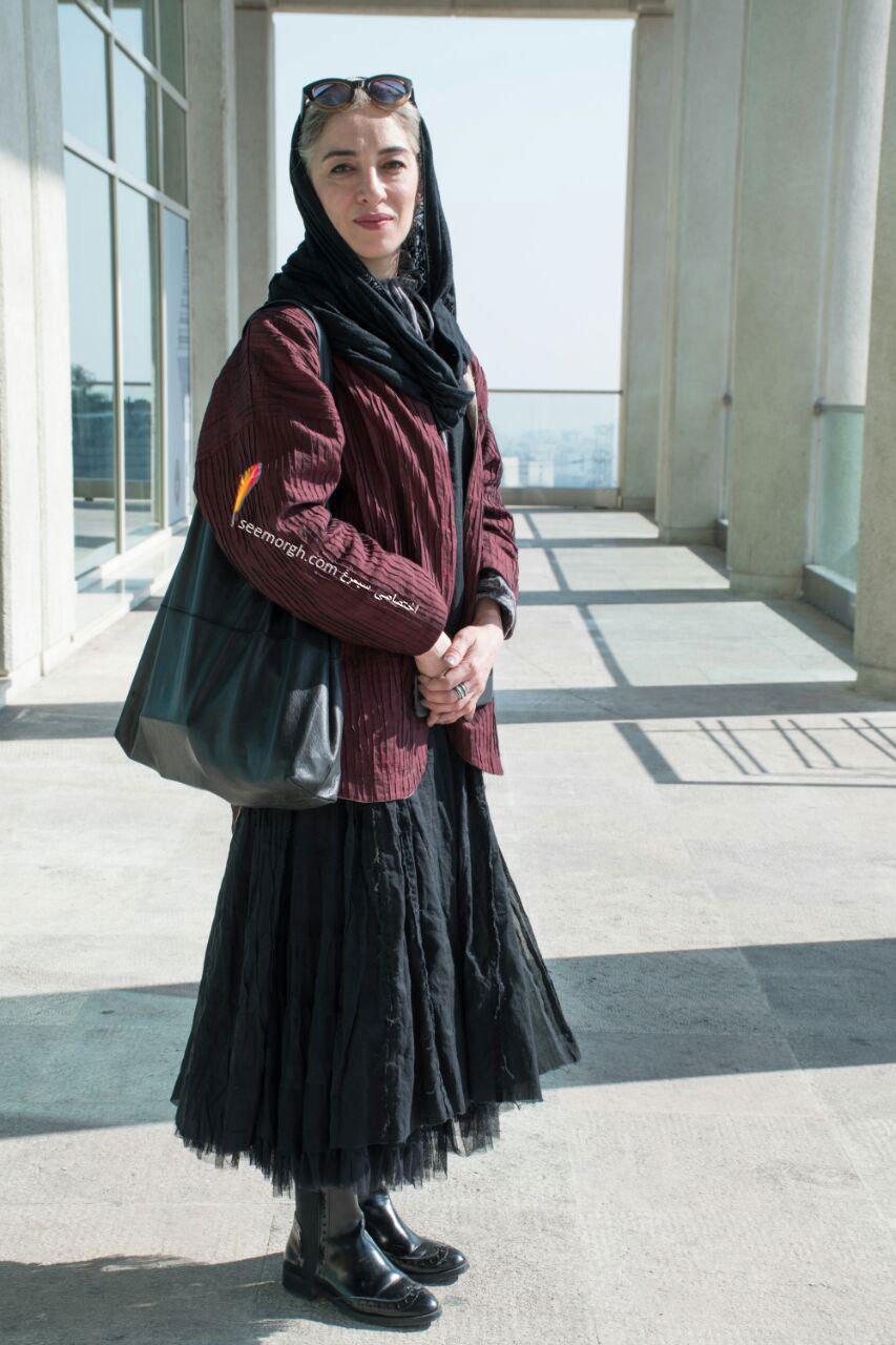 مدل لباس پانته آ پناهی ها در پنجمین روز سی و چهارمین جشنواره فیلم فجر - کاخ جشنواره فیلم فجر