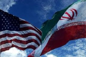 نصب پرچم آمریکا در کنار پرچم ایران در خیابان ولیعصر!+عکس