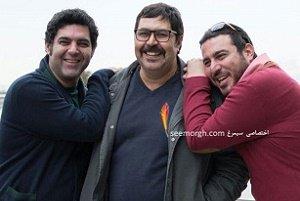 تصاویری از پژمان بازغی و مینا وحید در حاشیه جشنواره فجر