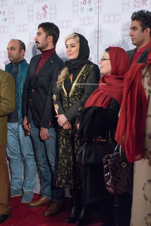 مدل لباس سحر قریشی در پنجمین روز سی و چهارمین جشنواره فیلم فجر - پردیس ملت