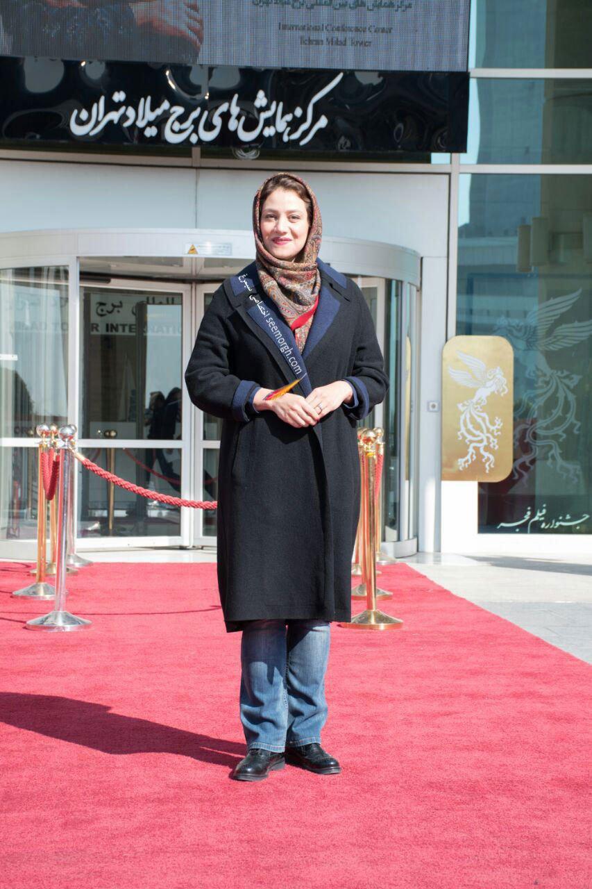مدل لباس شبنم مقدمی در پنجمین روز سی و چهارمین جشنواره فیلم فجر - کاخ جشنواره فیلم فجر