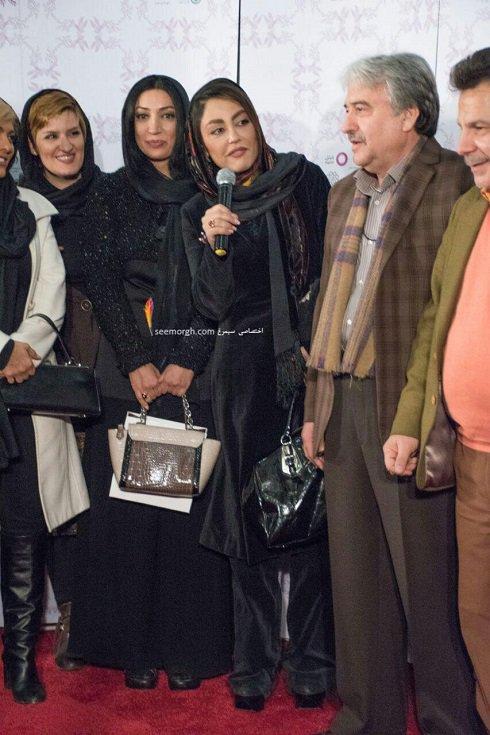 مدل لباس شقایق فراهانی در پنجمین روز سی و چهارمین جشنواره فیلم فجر - پردیس ملت