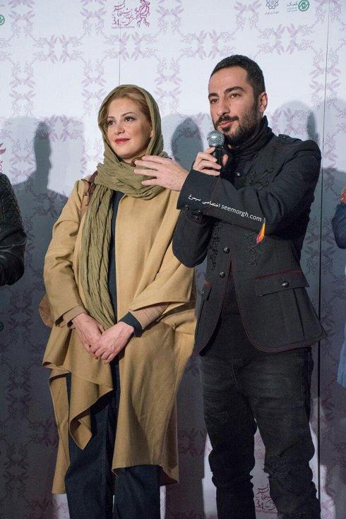 مدل لباس نوید محمدزاده و طناز طباطبایی در اولین روز سی و چهارمین جشنواره فیلم فجر