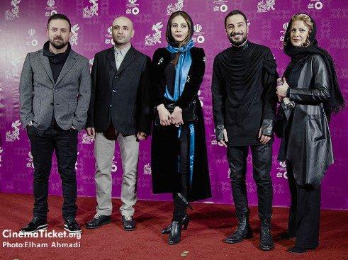 مدل لباس طناز طباطبایی و هومن سیدی در سی و چهارمین جشنواره فیلم فجر
