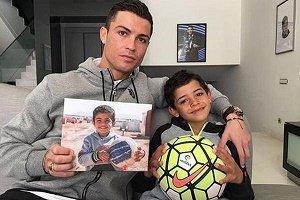 کریس رونالدو و پسرش در روز پدر + عکس