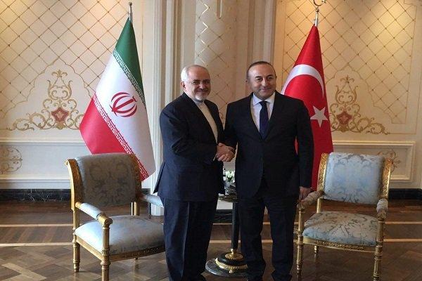 وزیر امور خارجه کشورمان با چاوش اغلو وزیر خارجه ترکیه دیدار و گفتگو کرد
