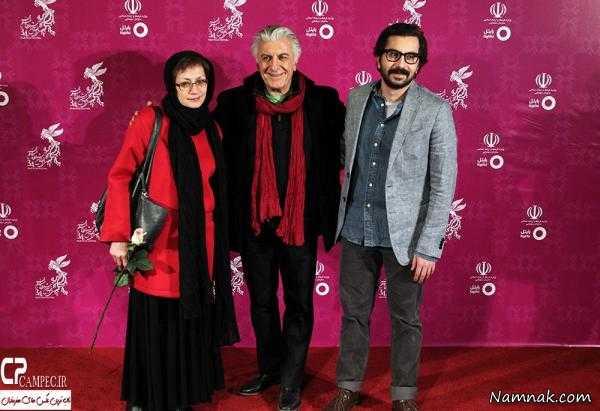 رضا کیانیان در کنار همسرش ، محسن کیایی و همسرش ، همسر بنیامین بهادری