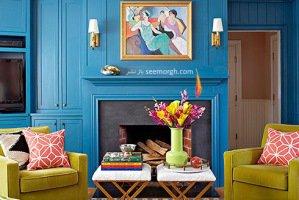 دکوراسیون داخلی خانه تان را به رنگی آبی بهاری بچینید!!