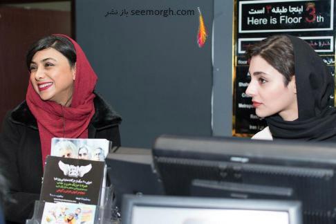 بازیگران زن درحال فروش بلیت فیلم 50 کیلو آلبالو