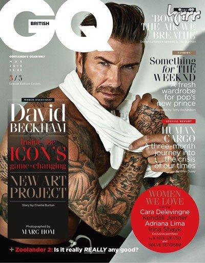 بهترین عکس های دیوید بکهام روی مجله GQ - عکس شماره 2