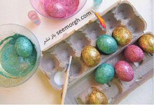 تزیین تخم مرغ سفره هفت سین با اکلیل های براق!!