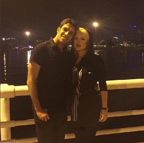 عکس سپهر حیدری و همسرش