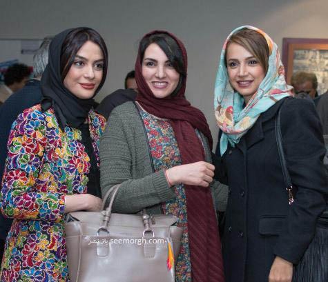 شبنم قلی خانی در کنار مرجان شیرمحمدی و مارال فرجاد