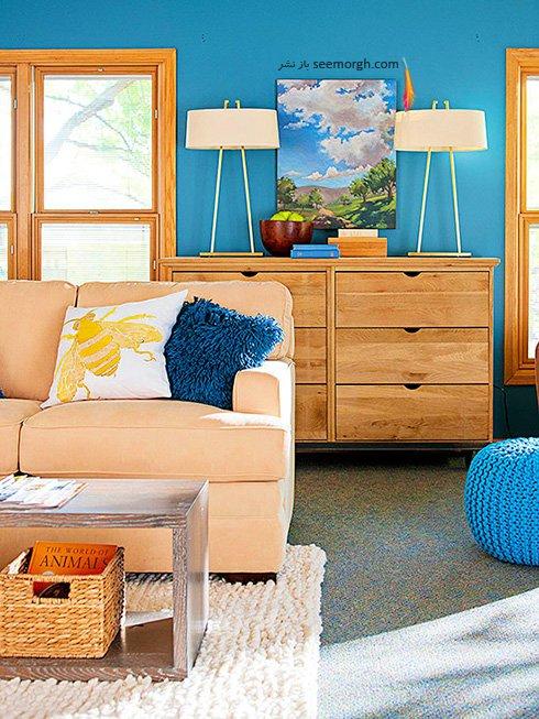 ایده های جالب برای دکوراسیون داخلی منزل به رنگ آبی