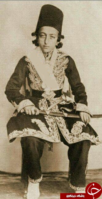مظفرالدین شاه قاجار در ده سالگی