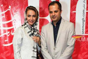 شبنم قلی خانی از همسرش در جشنواره فجر رونمایی کرد + عکس