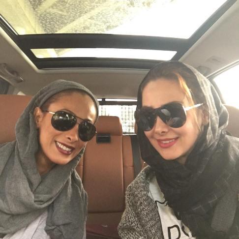 عکس های جدید آنا نعمتی در ماشین شاسی بلند پانارومایش