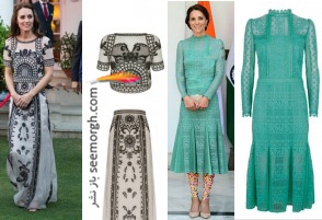 مدل لباس های هندی کیت میدلتون Kate Middleton + عکس