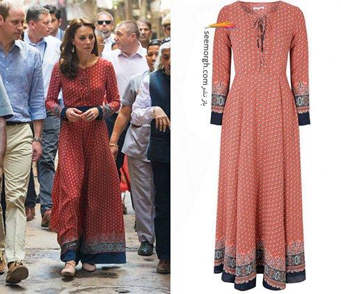 مدل لباس کیت میدلتون Kate Middleton در هندوستان - عکس شماره 1