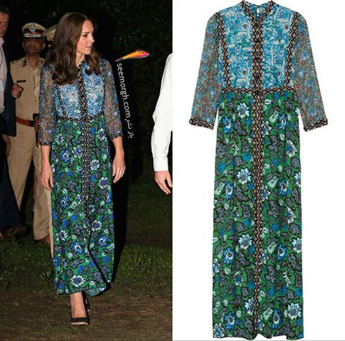 مدل لباس کیت میدلتون Kate Middleton در هندوستان - عکس شماره 2