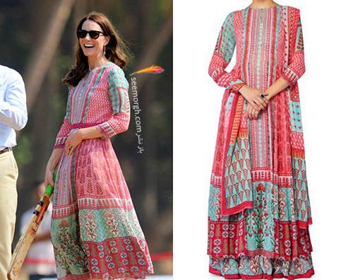 مدل لباس کیت میدلتون Kate Middleton در هندوستان - عکس شماره 3