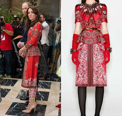 مدل لباس کیت میدلتون Kate Middleton در هندوستان - عکس شماره 4