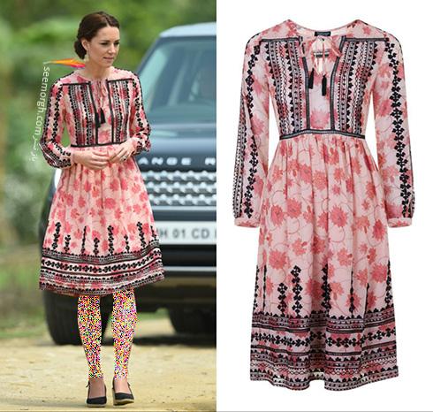 مدل لباس کیت میدلتون Kate Middleton در هندوستان - عکس شماره 6