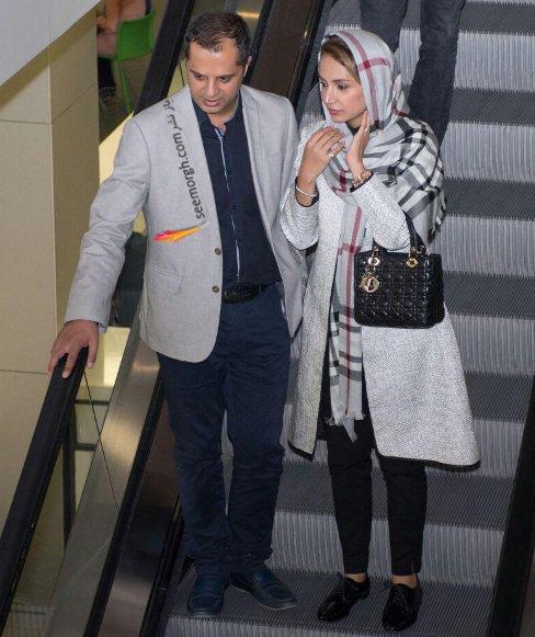شبنم قلی خانی و همسرش در پردیس چارسو