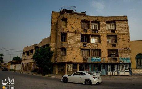 ساختمان های ویرانمانده از دوران جنگ تحمیلی