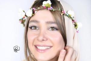 سلفی جالب الناز حبیبی و هنرمندان در کنسرت میثم ابراهیمی