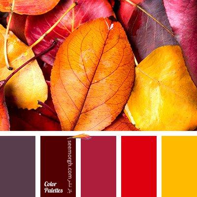 بهترین رنگ ها برای ست کردن با مبلمان زرشکی - پالت رنگی شماره 3