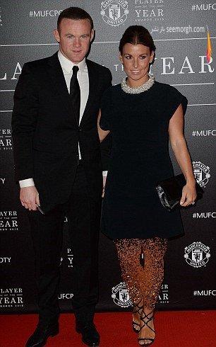 وین رونی و همسرش