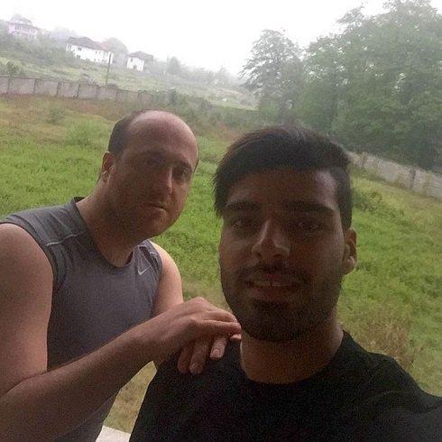 عکس طارمی و پسر دایی علی کریمی