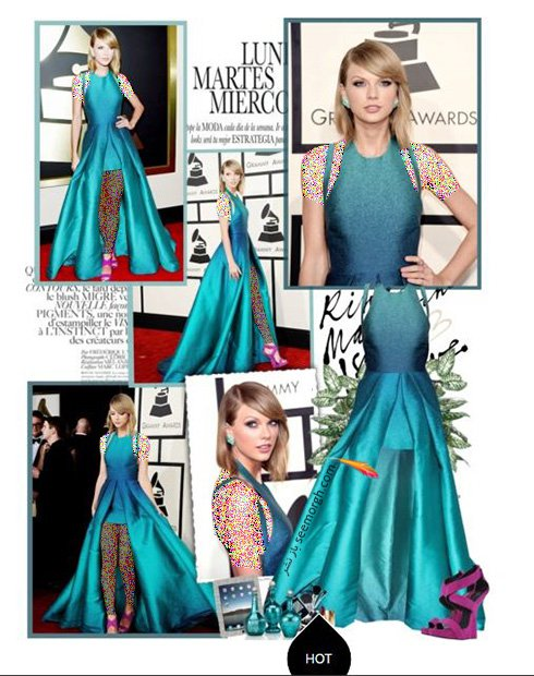 ست کردن لباس شب به سبک تیلور سویفت Taylor Swift - ست شماره 3
