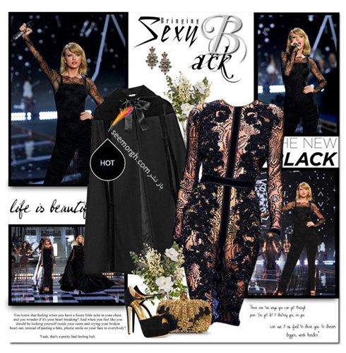 ست کردن لباس شب به سبک تیلور سویفت Taylor Swift - ست شماره 7
