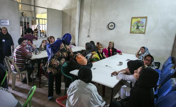 تصاویر کمپ ترک اعتیاد بانوان تهران