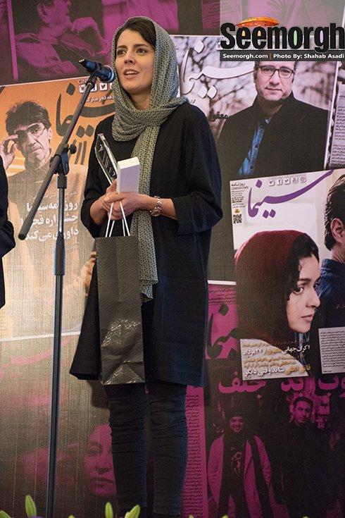 لیلا حاتمی در جشن روزنامه سینما