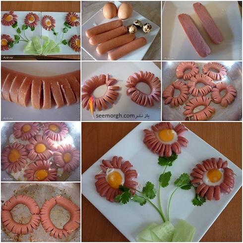 دستور پخت یک املت خوشمزه و خوشگل به شکل گل