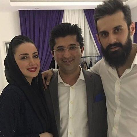 سعید معروف در کنار شیلا خداد و همسرش#سعید_معروف #شیلا_خداد#بازیگر#سینما#والیبا…