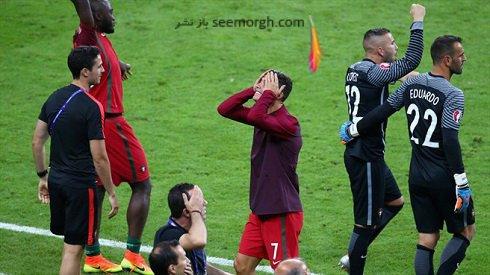 عکس اشک شوق کریس رونالدو پس از قهرمانی در یورو 2016
