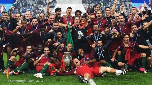 عکس کریس رونالدو پس از قهرمانی در یورو 2016