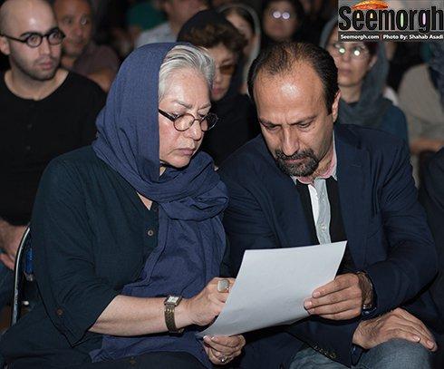اصغر فرهادی و رخشان بنی اعتماد درمراسم یادبود عباس کیارستمی