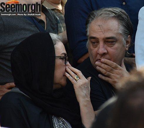 ایرج نوذری در تشییع پیکر عباس کیارستمی