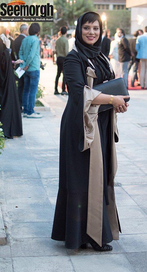 روشنک عجمیان بازیگر و مجری تلویزیون در جشن حافظ