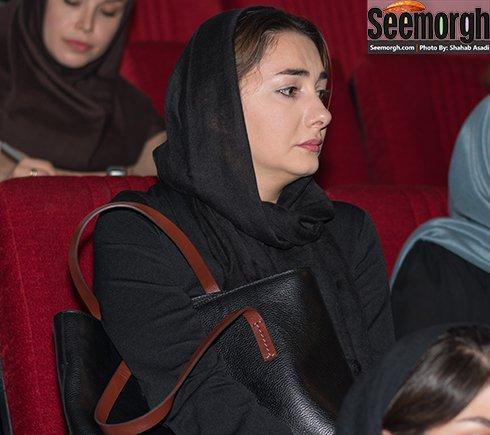 چهره هانیه توسلی در مراسم عباس کیارستمی