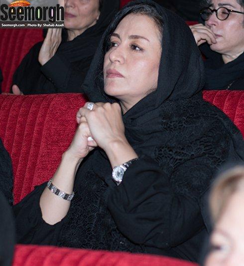 مریلا زارعی در مراسم عباس کیارستمی