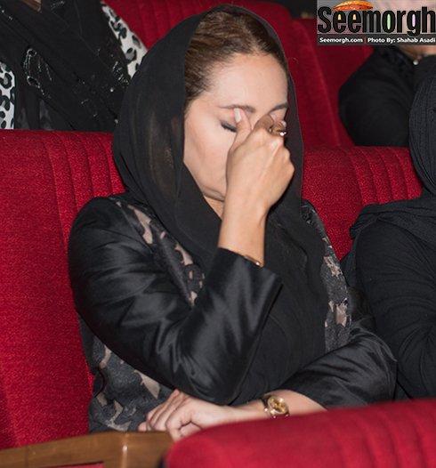 نیکی کریمی در مراسم عباس کیارستمی
