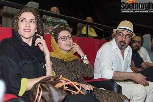 رضا عطاران و همسرش در کنار ویشکا آسایش