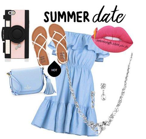ست کردن پیراهن تابستانی به رنگ سال 2016 - ست شماره 7